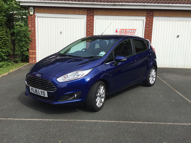 Driving lessons in Telford in a new Ford Fiesta Titanium